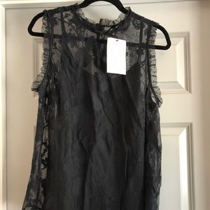 Who What Wear Black Sleeveless Top (1X)